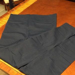 Navy Spanx footless leggings